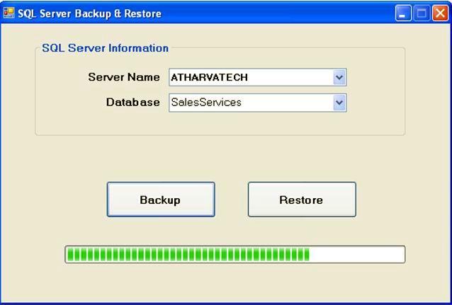 كيف اعمل backup لداتا بيس وهي تعمل؟